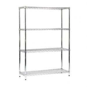 Bright chrome wire shelving
